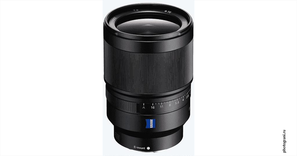 Маркировка объектива Sony Distagon T* FE 35 мм F1.4 ZA (SEL35F14Z)