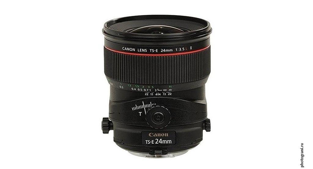 Маркировка объектива Canon TS-E 24mm f/3.5L II