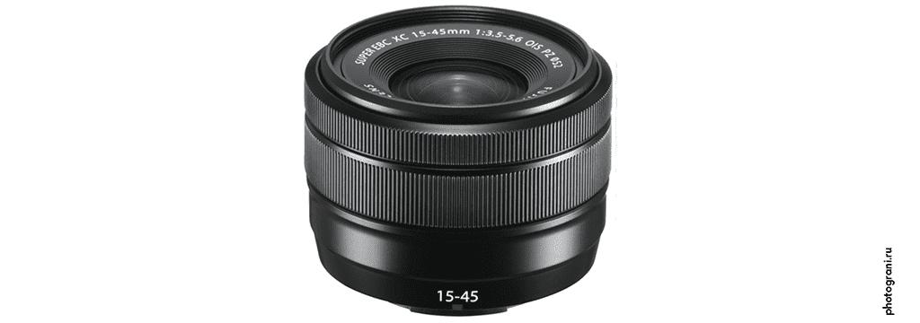 Маркировка объектива Fujifilm XC 15-45mm f/3.5-5.6 OIS PZ