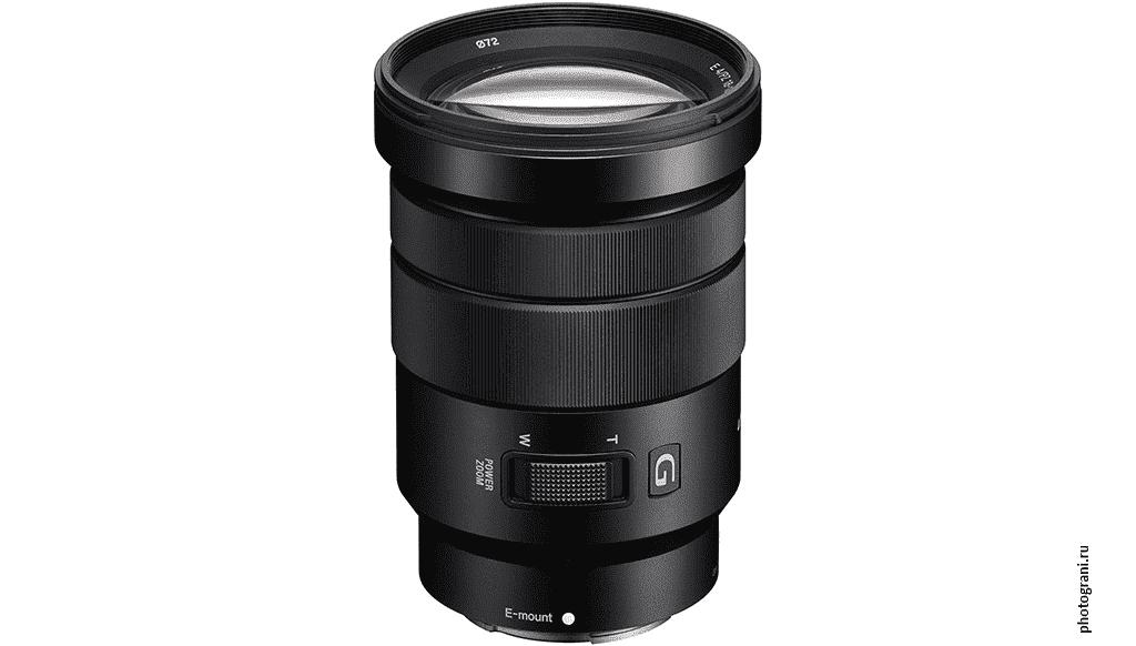 Маркировка объектива Sony E PZ 18-105mm f/4 G OSS (SELP18105G)