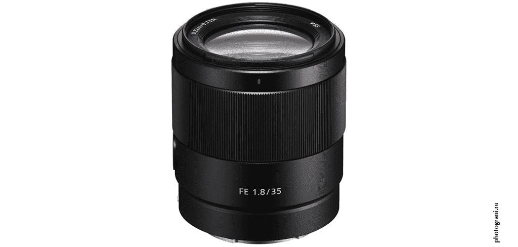 Маркировка объектива Sony FE 35mm f/1.8 (SEL35F18F)
