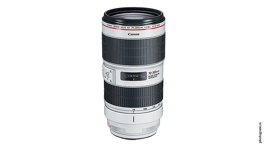 Маркировка объектива Canon EF 70-200mm f/2.8L IS III USM
