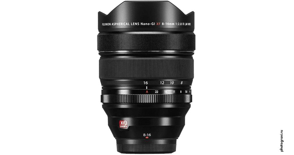 Маркировка объектива Fujifilm XF 8-16mm f/2.8 R LM WR