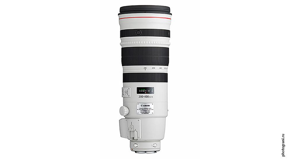 Маркировка объектива Canon EF 200-400mm f/4L IS USM Extender 1.4x