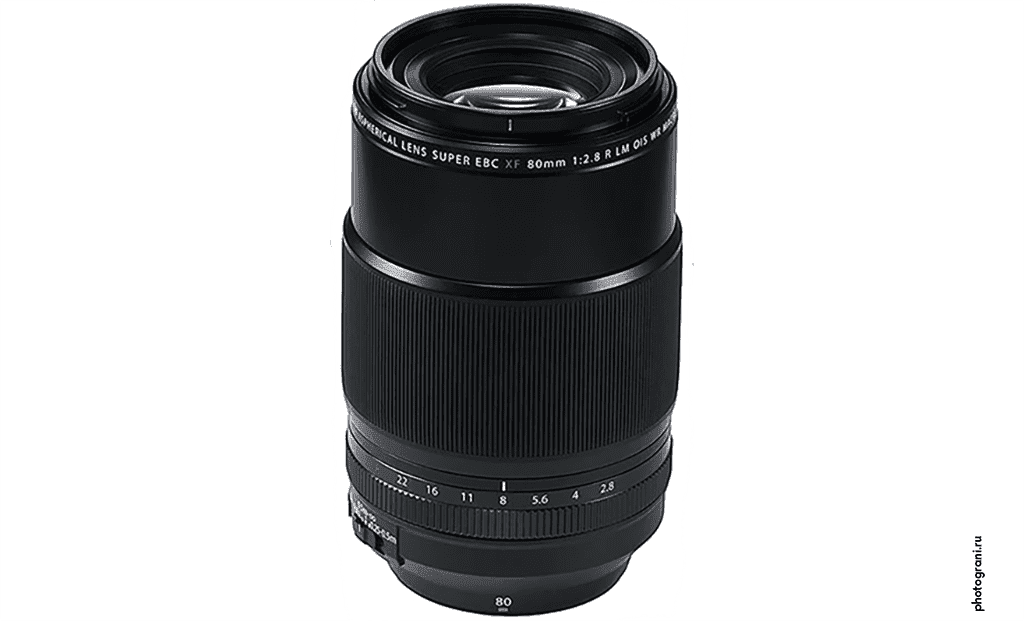 Маркировка объектива Fujifilm XF 80mm f/2.8 R LM OIS WR Macro