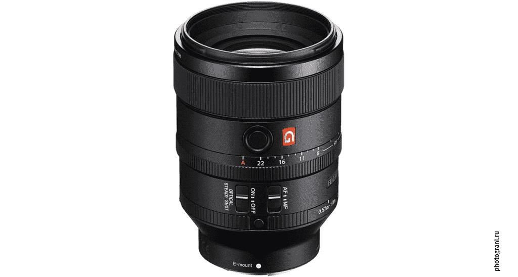 Маркировка объектива Sony FE 100mm f/2.8 STF GM OSS (SEL100F28GM)